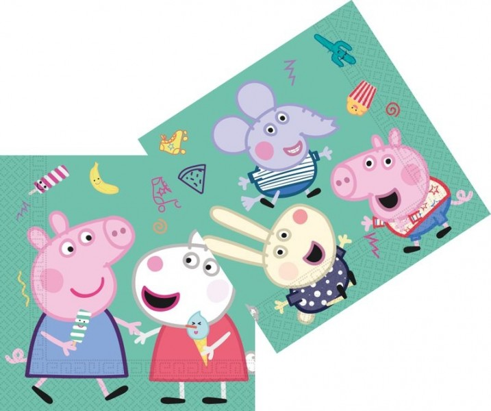 Peppa Pig Tovaglioli 20 Pz
