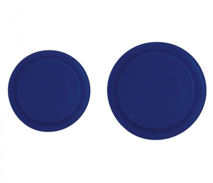 Piatti di carta Blu Navy