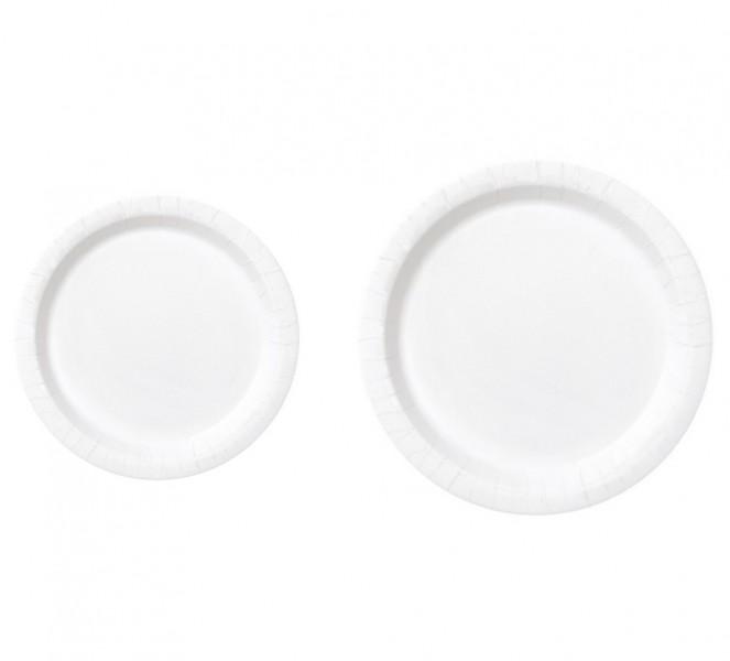 Piatti di carta Bianco