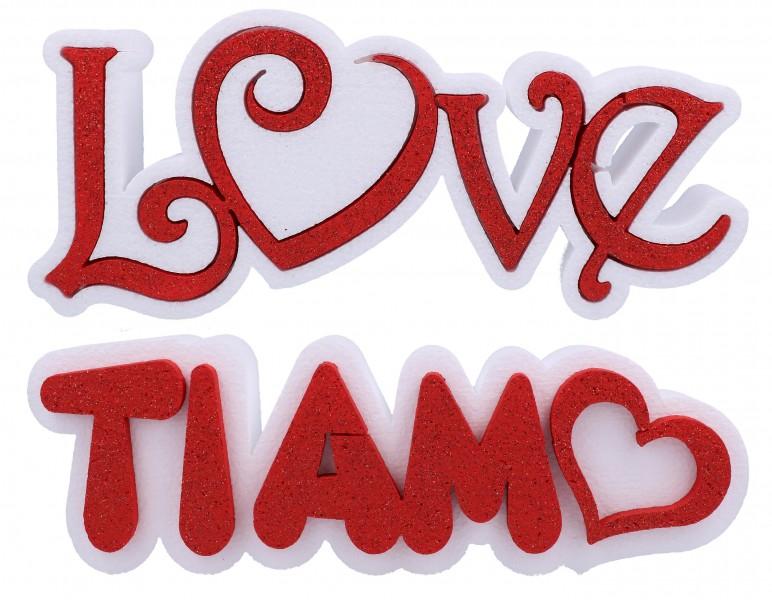 Scritta Polistirolo Amore