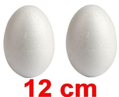 Uova pasquali polistirolo 12 cm 2 pz