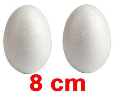 Uova pasquali polistirolo 8 cm 2 pz