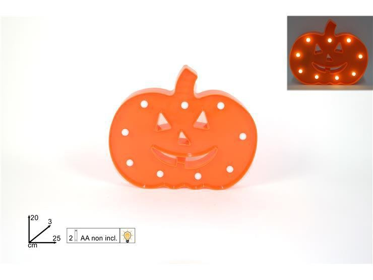 Zucca Halloween con luci